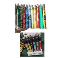 Backwoods Cookies Runtz Cartoon Battery Kit Bottom 1100mAh Variable Voltage USB Charger Vape Pen 24 Pcs A Display Box For 510 Thick Oil Cartridge Carts Instock