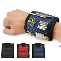 Магнитный браслет Pocket Pocket Tool Point сумка сумка винты держатель держа инструменты магнитные браслеты практические сильные запястья запястье HWD11239