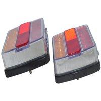 Turn Signal Indicator 26 LEDs Tail Light Trailer Truck Caravan Taillight 1 Pair Rear Reverse Brake Stop Lamp Number Plate Car View Cameras&