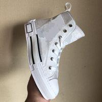 B23 B24 Rahat Ayakkabılar Yüksek Düşük Üst Sneakers Eğik Eğitmenler Nakış Baskılı Alfabe Tuval Kadın Erkek Stilist