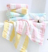 Baby Burp Cloths التمريض منشفة 6 طبقات القطن الشاش ساحة مناشف الطفل عادي اللعاب منشفة الرضع الوجه منشفة منديل 30 * 30 سنتيمتر DHC7002
