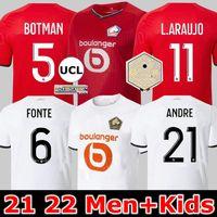 2021 2022 Losc Lille Soccer Jersey David Fonte Burak Bamba Yazici Football Shirts 21 22 Jikone R.Sanches T.Weah L.Auajo Mailleots الكبار Kids Kit Fans Player