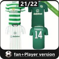 Фанаты игрока версия 21 22 кельтский футбол майки McGregor Griffiths 2021 2022 Duffy Forrest Christie Edouard Elyounoussi Turnbull Home Мужчины футбольные рубашки