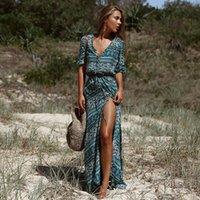 Summer Bohemian Print Dress Women's Long Beach Dresses For Women Plus Size Clothing Casual