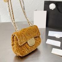 2021 F / W 가을 프랑스 Womens 빈티지 Sasanqua 가방 클래식 미니 플랩 스퀘어 벨벳 클러치 디자이너 Matelasse Crossbody 어깨 꽃 매력 Luxury_Handbags 18C