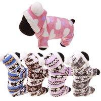 패션 애완 동물 강아지 따뜻한 옷 겨울 애완 동물 개 산호 양털 의류 작은 개 코트 hoody reindeer snowflake 재킷 의류 M-XL DBC 663 v2