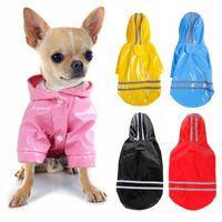 Собака открытый щенок дождь пальто куртки PU плащ для собак кошек водонепроницаемый домашний одежда Chihuahua ткань