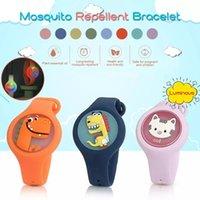 Детский москитный браслет браслет дети носимый браслет Bugslock облегченные силиконовые ошибки отталкивающие часы