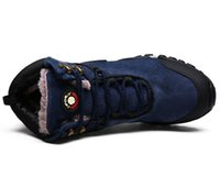 Hot Sale-leather snow boots mens outdoor plush boots furry coldproof boots for man and skidproof shoes for hiking zy867