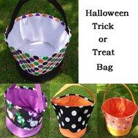 Gift Wrap 100pcs Lot Personalize Halloween Bucket Kids Trick Or Treat Storage Bag Pumpkin Basket Candy Bags 2021
