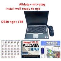 Todos os dados Auto Repair AllData Soft-Ware Mit e ATSG Soft-Ware no HDD 1TB instalado bem no laptop D630 4GB