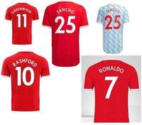 7 Ronaldo Cavani 21 25 Sancho Futebol Jersey 10 Rashford 18 B.fernandes 34 Van de Beek Personalizado Seu 2021 Top Qualidade Tailandesa Personalizado Camisolas