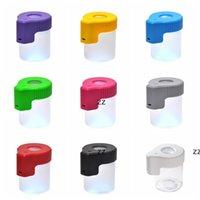 Botellas de varios colores OPCIONAL LED LED Luminoso Tanque de almacenamiento Contenedor de alimentos cubierto Alimentos claros Los tanques de vidrio sellados Cocina Misceláneo HWD8674