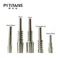 가장 저렴한 교체 네일 티타늄 팁 프리미엄 10mm 14mm 18mm 거꾸로 된 학년 2 G2 티타늄 TI 팁 실리콘 NC 키트 전자 용 손톱