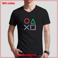 Men's T-Shirts Retro Splash Design PS Gaming Vintage PS5 PS2 PS3 PS4 Xbox Game Play Station V-neck T-Shirt Cozy And Breathable All Cotton To