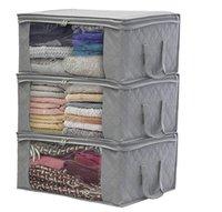 Cajas de almacenamiento de colchas Bolsa de polvo plegable Moístura A prueba de humedad Bolsas 2 Color Organizadores de hogar Canasta Cesta de alta calidad ZZE5272