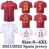 2021 Espana Futbol Forması Rodrigo Torres Pedri İspanya Hayranları Sürüm Futbol Gömlek Morata Ramos Thiago Iniesta España Ekipmanları Camisetas de Futbol