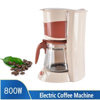 220V-240V Coffee & Tea Maker Stylish Home Portable Automatic American Machine EU Plug 1300ml Black   Beige Roasters