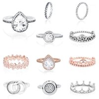 Trendy 925 Sterling Silver Ring Daisy Flower Signature Rings Women Engagement Anniversary Silver Jewelry1