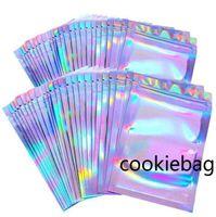 100pcs Lashes Packaging Boxes Idea Holographic Laser Zip Lock Party Favor Bag Eyelashes Lash resealable 51