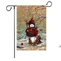 Neue Weihnachtsflagge Serie Muster Weihnachten Schneemann Garten Flagge Banner Flaggen 47 * 32 cm Weihnachtsfeier Versorgung EWD8865