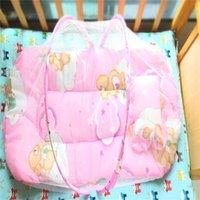 طفل حديثي الولادة المحمولة للطي السفر السرير سرير مظلة ناموسية صافي خيمة طوي 115 z2