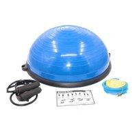 5.6kg Professione Yoga Half Ball Fitball Training Pilates Palestra Esercizi di fitness con stringhe e palline di pompa