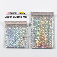 10pcs lot Laser Bubble Mailer Poly Mailing Bags Envelopes With Packaging Envelope Mailers Padded1
