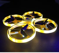 Интерактивная индукционная индукция четырехосных самолетов Smart Watch R пульт дистанционного управления жест дистанционного управления воздушным судом Светодиодное освещение беспилотный воздушный автомобиль игрушка