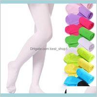 19 Colors Girls Pantyhose Tights Kids Dance Socks Candy Color Children Velvet Elastic Legging Clothes Baby Ballet Stockings Lwded