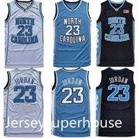 Hommes NCAA JERSEYS NORD Carolina Tar Gouilles 23 Michael Jersey Unc Collège Blanc Blanc Blanc Bleuil de basketball
