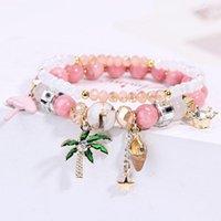 Korean Version Of The Bracelet Female Sweet Coconut Tree Pineapple Student For Women Sisters Fresh Holiday Style Charm Bracelets