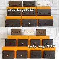 Luxurys Designers Carteira Curto Longo Carteiras Bag Suporte Carrete Em torno das Mulheres Bolso Único Zíper Suportes Dinheiro Cartões Moedas Homens Bolsa De Couro Bolsas De Noite