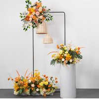Party Decoration Nordic Iron Arch Flower Sash Props Rack Shelf With Paper Fold Plinths Cylinder For Wedding Birthday Shower Backdrops Decor