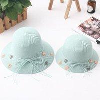 Stingy Brim Hats Seioum Parent-child Summer Hat For Women Straw Beach Baby Sun Travel Bucket Panama