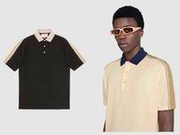 2021 Classic Street Polo Hombres Marca de ocio T Shirts Correas 3M Rayas reflectantes Costura Bordado Cómodo Material de alta calidad Diseño de diseño de tees