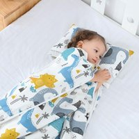 Детский сад Детский спальный мешок Baby Kids NAP Одеялка Антиквадратный Antifact Mat Pad со съемными подушками Сумки