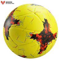 Balón de fútbol oficial Tamaño 5 Tamaño 4 PU Cuero Equipo Deportes Bola de Futebol Competición Capacitación Bolas Soporte Pelota de fútbol personalizado A0521