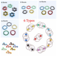 6 8 10 12 Knots Bike Chain Toy Key Ring Fidget Spinner Gyro Hand Metal Finger Keyring Bracelet Toys Reduce Decompression Anxiety Anti Stress For Kids Adult