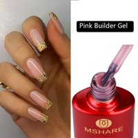Milky Pink Builder Gel In A Bottle Nails Extension Quick Building Clear Cover Nail Tips Led UV Soak Off