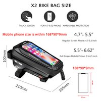 WILD MAN Bike Bag Front Cycling Bag Rainproof Touch Screen Bicycle Phone Bag 6.5 Inch Mobile Phone Case Mtb Accessories