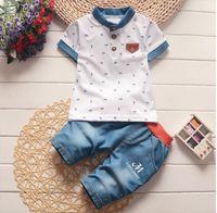Toddler Girl Summer Set Crown Full Print Short Sleeve Polo Shirt Shorts Kid Baby Boys Gentleman Casual Clothes Sets