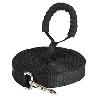 Dog Collars & Leashes Long Nylon Leash For Lanyar Outdoor Training Walk 2.5cm Width 1.8M 3M 6M 10M 15M 20M 30M 50M Lead With Cotton Handle