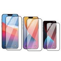 Verre trempé Couverture complète Couverture Curved Screen protecteur anti-rayures Protecteur de film pour iPhone 12 Mini 11 Pro Max XS XR x 8 7 6S Plus SE