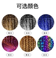 3m 100 200 300 LED Curtain String Light Flash Garland Rustic Wedding Party Decorations Table Bridal Shower Bachelorette Supplies 1938 V2