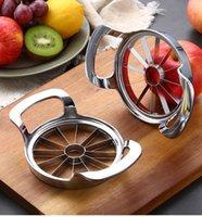 Rápido de aço inoxidável de aço inoxidável cortador de aço slicer vegetal fruta peeler divisor 8/12 cortador cozinha utensílios gadgets ferramentas 210319