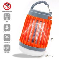 Solar Mosquito Killer Lamp 4 Modes Lights USB Charging Bug Zapper Light Fly Bugs Repellent Anti Mosquitos Trap with Hook