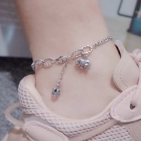 Anklets S925 Sterling Silver Crown Elephant Foot Chain Used Thai Style Animal Modeling Jewelry in Summer Female