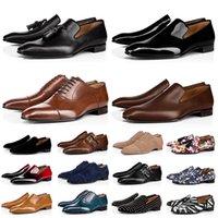 Новые мужские мокасины обувь красные днище черные коричневые замшевые лакированные кожаные заклепки блеска мода Loafer платье свадебный бизнес Размер 39-47