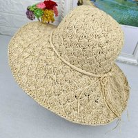 Wide Brim Hats 2021 Fashion Women Woven Straw Hat Female Beach Bucket Casual Holiday Summer Sunscreen For